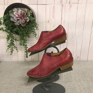 Nicole Red Leather Booties . Sz. 6